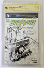 CBCS ART, Aquaman  #15 (2013) JAWS Sketch, Jeff Edwards, Signed Richard Dreyfuss