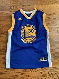 Adidas NBA Boy's Sz M Golden St Warriors #30 Steph Curry Jersey ~Blue/Gold~