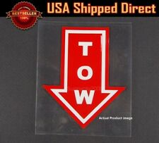 "4.5"" x 3.75"" Bumper Red Waterproof Tow Arrow Point Sticker Decal For   Chevy"