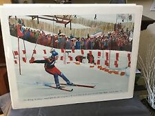 NELSON,WILLIAM OLYMPIC SKIIER ROSE MITTMAIER HAND SIGNED AND NUMBERED LITHOGRAPH