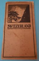 Vintage Swiss State Railroads 84pp Switzerland Hints For Travelers Booklet