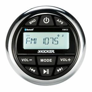 KICKER KMC2 Gauge Hole Digital Media Receiver w/Bluetooth/USB For Boat/ATV/UTV