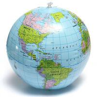 38CM Palla Pallone da Mare Gonfiabile Mappamondo Con Mondo Globo Geografico !
