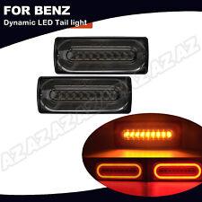 2x LED Rücklicht Dynamische Blinker /Bremslicht Für Mercedes G-Klasse W463 Smoke