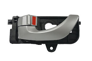 Front Left Driver Side Inside Silver Door Handle for 05-08 Hyundai Sonata