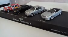 AMG Mercedes-Benz 1/43 set 40 years of performance, minichamps/spark very rare!!