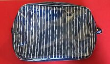 Estee Lauder Blue and White Stripey Makeup Wash Cosmetic pvc Bag  New