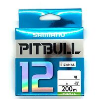 SHIMANO PITBULL X12 Braided Line PE 200m Lime Green Select LB Free Shipping