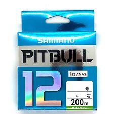 SHIMANO PITBULL X12 Braided Line PE 200m Lime Green Select LB Free Shipping