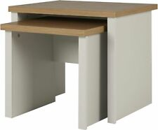 Tesco Somerton Set of 2 Nesting Tables (Putty Grey & Oak Effect)