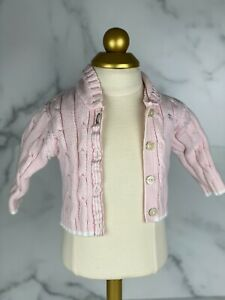 Tommy Hilfiger Baby Girls Pink Buttoned Sweater 3-6 Months