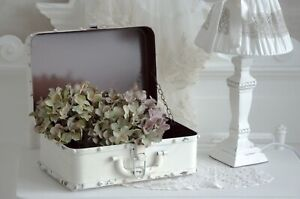 Koffer Metallkoffer Dekokoffer Mappe Schachtel Box Schatulle Shabby Chic Vintage