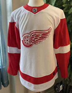 ADIDAS  NHL DETROIT RED WINGS HOCKEY JERSEY WHITE CA7085 SZ 44 XS AUTHENTIC!!