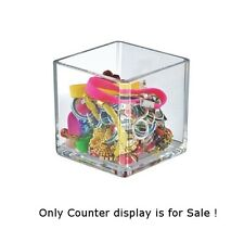 Styrene Clear Cube Display Bin 4W x 4D x 4H Inches - Case of 4
