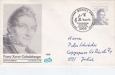 Germany 1989 Gabelsberger Centenary First Day Cover
