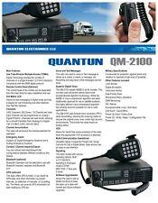Quantun QM- 2100 Mobile DMR Radio With Keypad /Microphone Digital MILITARY SPEC