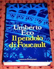 """Umberto Eco """"IL PENDOLO DI FOUCAULT"""" Bompiani 1ªEd."""