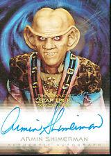 THE COMPLETE STAR TREK DEEP SPACE AUTOGRAPH CARD A4 ARMIN SHIMERMAN AS QUARK