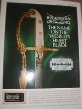 Wilkinson sword shaving razor blades worlds finest advert 1964 ref AY