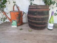 VINTAGE WOODEN OAK WINE BARREL KEG WHISKEY TABLE WITH  FREE POST