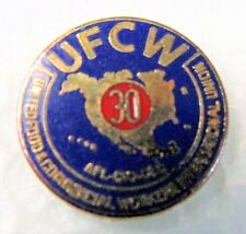 UFCW 30 YEAR United Food & Commercial Workers union tietac tie tack pin Mint MOC
