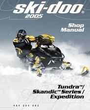 DIGITAL 2005 Ski-Doo Tundra Skandic Expedition series snowmobile service manual