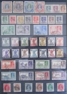 INDIA GEORGE VI, 47 x  DIFFERENT GEORGE VI FINE USED STAMPS.