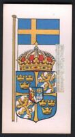 Flag And Standard - Banner For Sweden c50 Y/O Trade Ad  Card