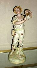 Statuette figurine porcelaine Royal Rudolstadt 1900 40 cm biscuit bisque