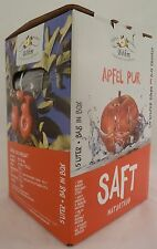 Apfelsaft naturtrüb, 4x5 Liter Bag in Box, 100% Direktsaft, 1,40 €/ltr...,