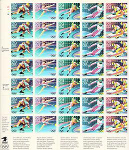 SCOTT #2611-15  WINTER  OLYMPICS  29 CENT     SHEET   MNH