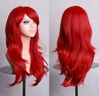 Fashion Lolita Red 70CM Long Wavy Women's Fashion Cosplay Party Wig + Wig Cap