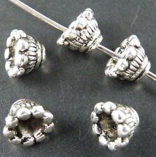 150pcs Tibetan Silver Beaded Daisy Bead Caps 7x5mm A327-zn778