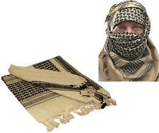 """Tan Lightweight Shemagh Arab Tactical Desert Keffiyeh Scarf 42"""" x 42"""""""