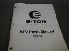 E-TON America Genuine OEM Parts Manual DLX-90 Youth ATV