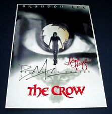 THE CROW CAST x2 PP SIGNED POSTER 12X8 BRANDON LEE