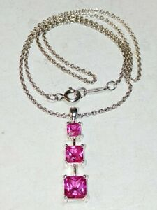 """SIGNED-""""Tiffany & Co Frank Gehry"""" Sterling Silver 925: 16"""" Chain & RUBY Pendant❇"""