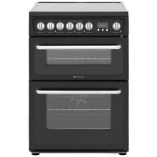 Hotpoint HARE60K Free Standing Electric Cooker with Ceramic Hob 60cm Black New
