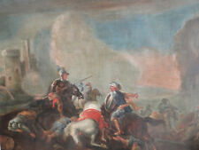 Gemälde ÖL/leinwand Schlachten-Kampfszene Ritter Orient um 1800 nach Rugendas