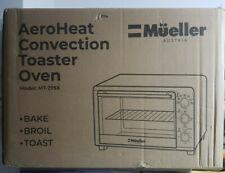 Mueller AeroHeat Convection Air Fryer Toaster Oven, 8 Slice, Broil, Toast,