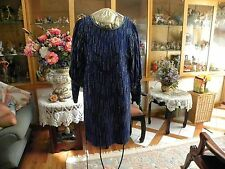 100% PURE SILK BEADED DRESS SUPER SLEEVES SIZE 12