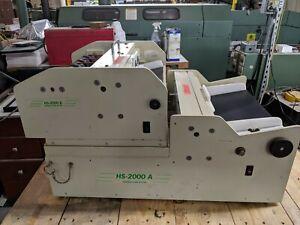 RB Sun Enterprises HS-2000AB Business Card Slitter 12-Up