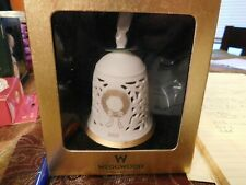 Bell Christmas Ornament 2002 Wedgwood Pierced Annual New In Original Box Vintage