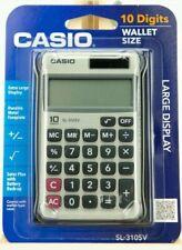 Casio SL-310SV 10 Digit Wallet Size Solar Calulator w/ Wallet Style Case ~ NEW