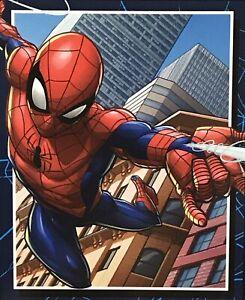 "Throw Blanket Spiderman Silky Soft 40"" X 50"" Marvel Neighborhood Delivery"