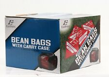 EastPoint Professional Grade 4 Bean Bags w/ Carry Case RED Set Outdoor Cornhole