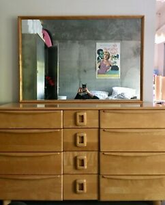 HEYWOOD WAKEFIELD DRESSER AND MIROR AMAZING FURNITURE BEDROOM MID CENTURY MODERN