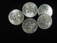 1968 OLIMPIADA 25 PESO CHOICE UNC BU ONE (1) .720 SILVER COIN OLYMPICS