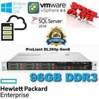 HP ProLiant-DL360p G8 2x E5-2630 12Core Xeon 96GB DDR3 2x80GB SSD Disks P420i 1G