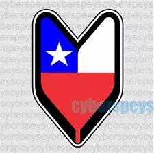 Chile Flag Design Car Vinyl Sticker Decals